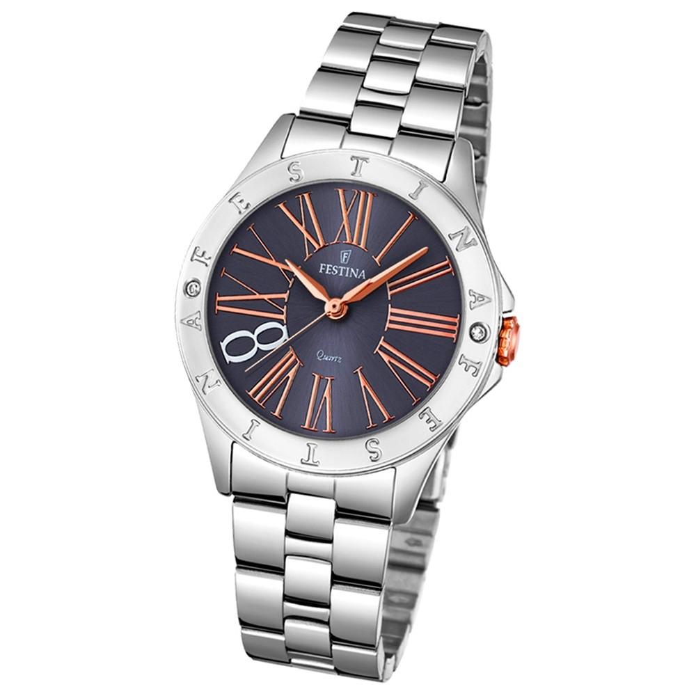 Festina Damen-Armbanduhr Journees dAchats analog Quarz Edelstahl UF16925/2