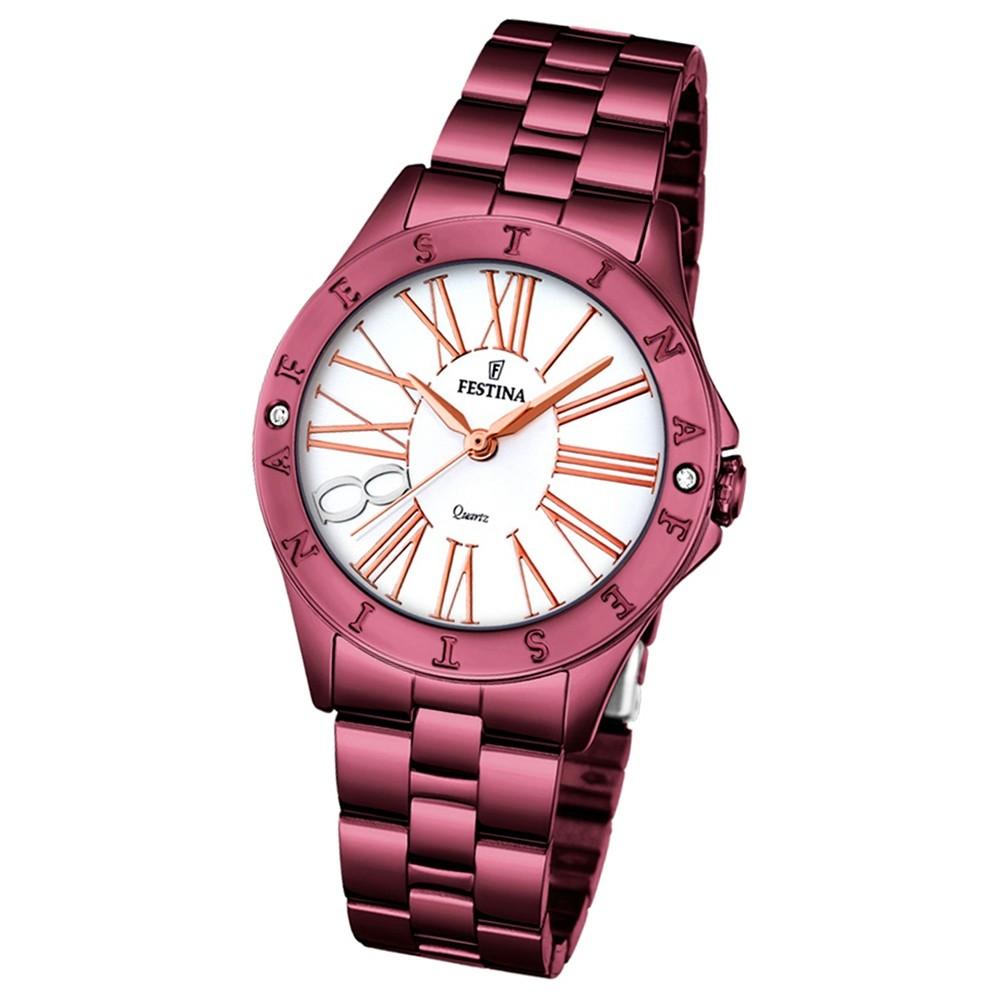 Festina Damen-Armbanduhr Journees dAchats analog Quarz Edelstahl UF16928/1