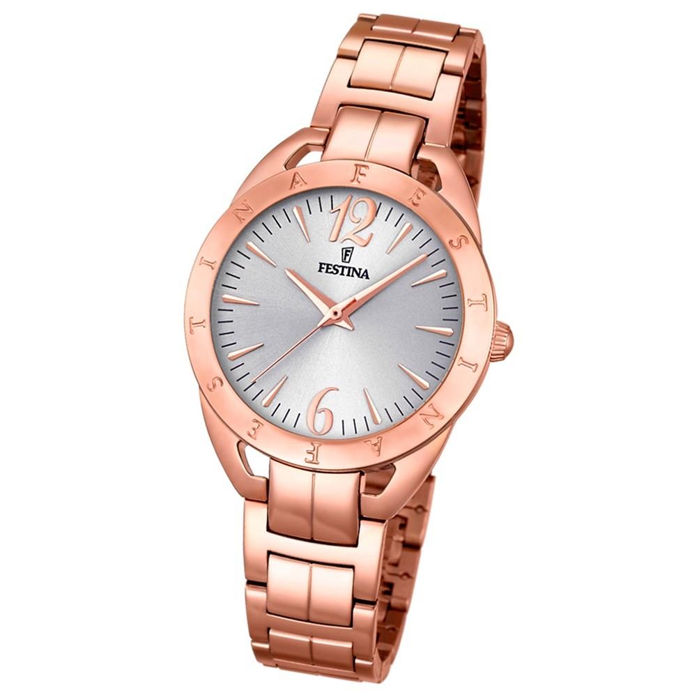 Festina Damen-Armbanduhr Mademoiselle analog Quarz Edelstahl rosegold UF16935/1