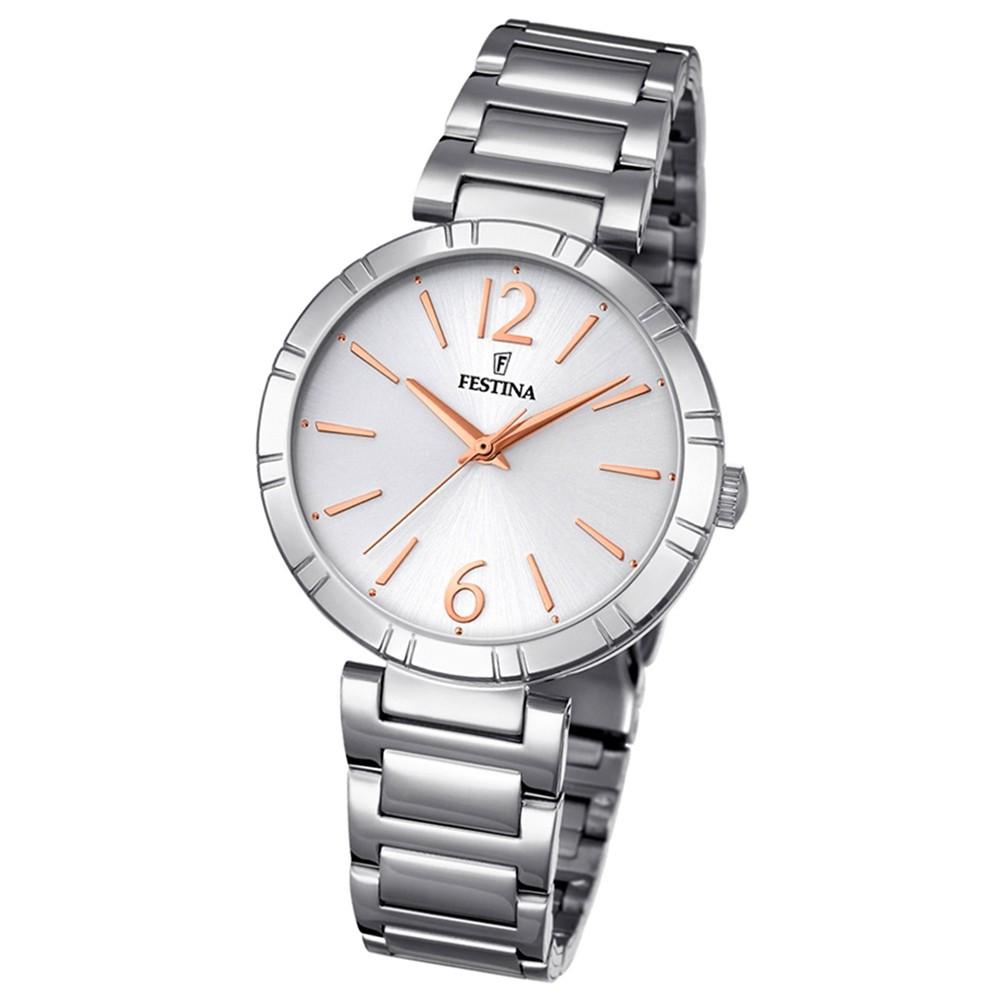 Festina Damen-Armbanduhr Mademoiselle analog Quarz Edelstahl silber UF16936/1