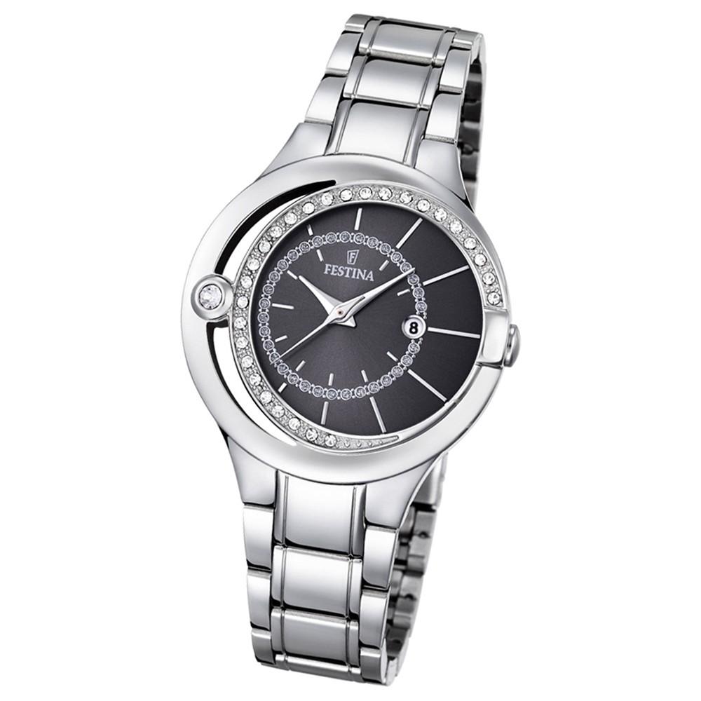 Festina Damen-Armbanduhr Mademoiselle analog Quarz Edelstahl silber UF16947/2