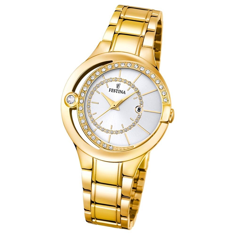 Festina Damen-Armbanduhr Mademoiselle analog Quarz Edelstahl gold UF16948/1