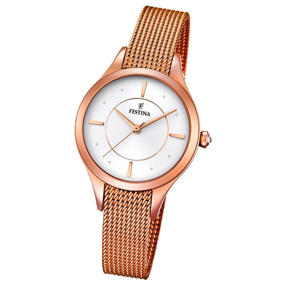 Festina Damen-Armbanduhr Mademoiselle analog Quarz Edelstahl rosegold UF16960/1