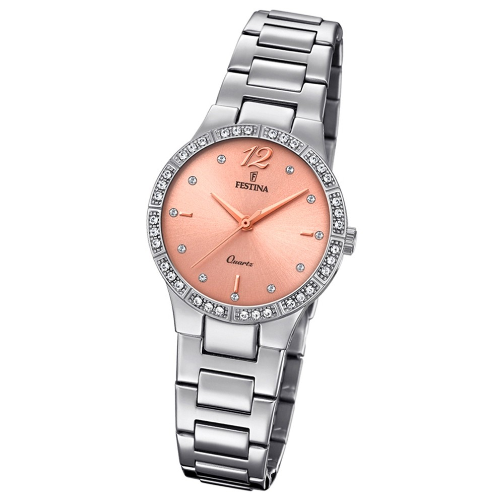 Festina Damen Armband-Uhr F20240/3 Quarz Edelstahl silber UF20240/3