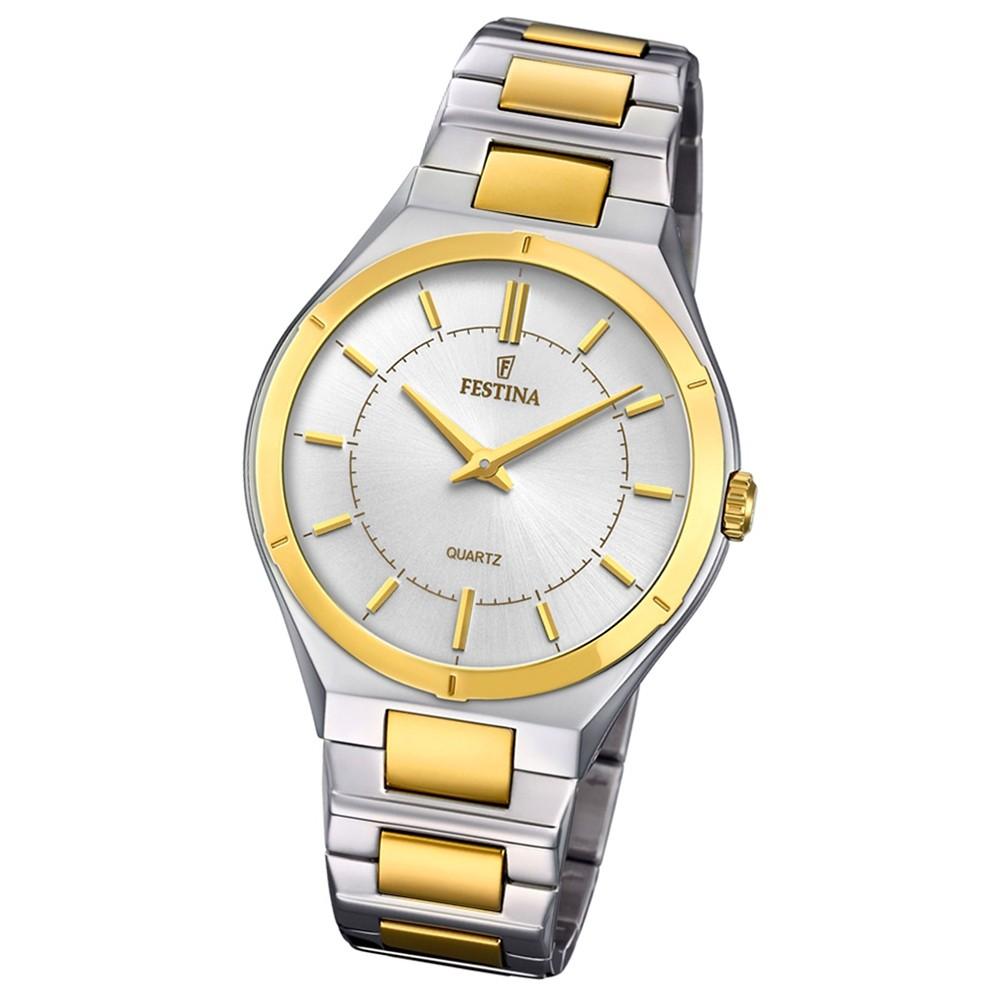 Festina Herren Armband-Uhr F20245/1 Edelstahl Slim Collection UF20245/1