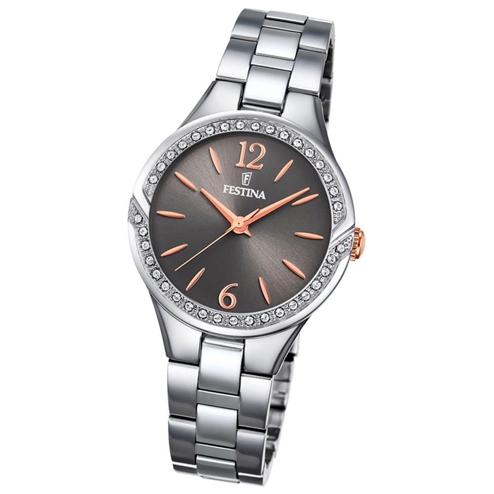FESTINA Damen-Armbanduhr Mademoiselle F20246/2 Quarz Edelstahl silber UF20246/2