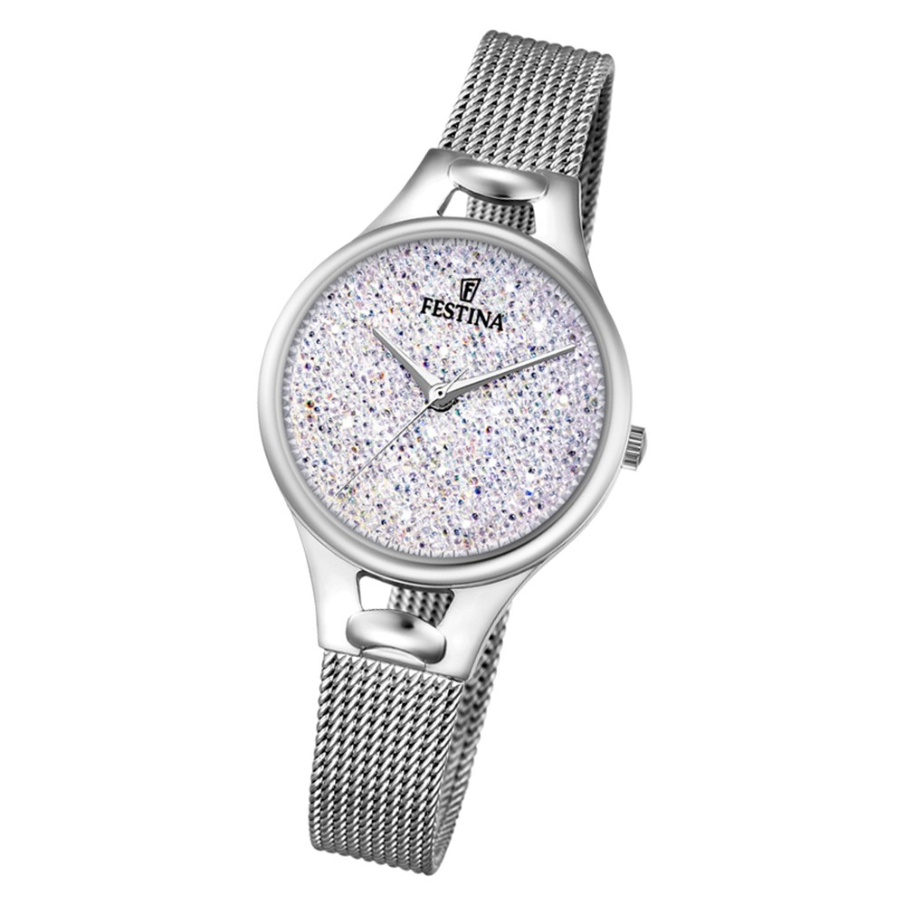 Festina Damen Uhr Swarovski Elements F20331/1 Edelstahl Armband silber UF20331/1
