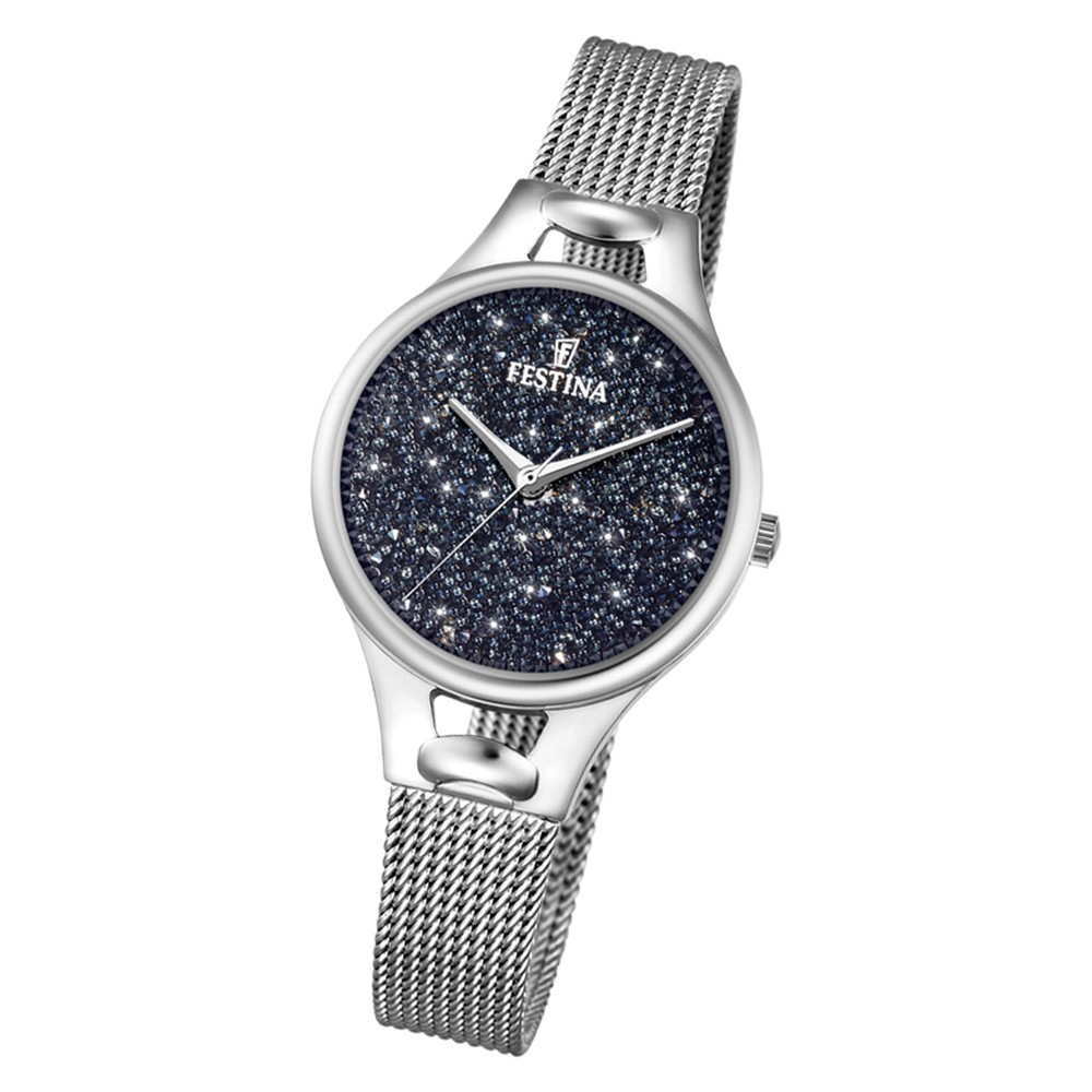 Festina Damen Uhr Swarovski Elements F20331/3 Edelstahl Armband silber UF20331/3
