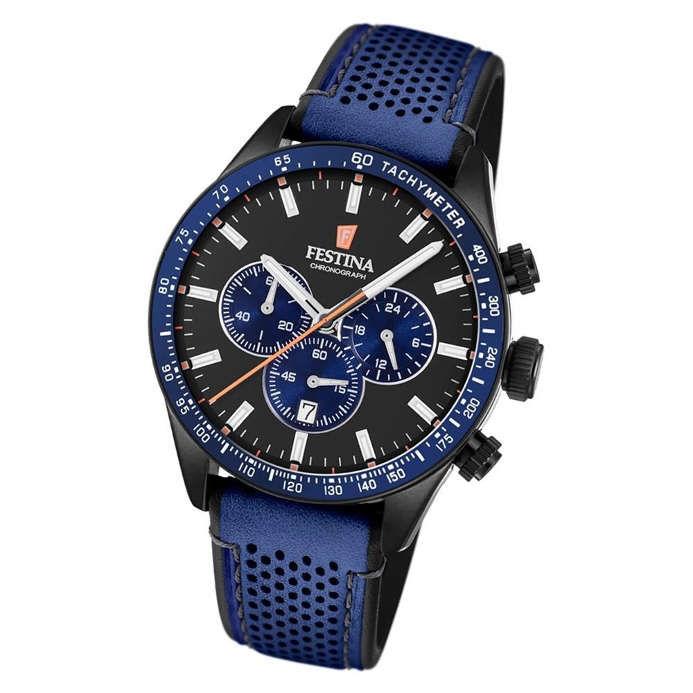 Festina Herren Armbanduhr The Originals F20359/2 Quarz Leder blau UF20359/2