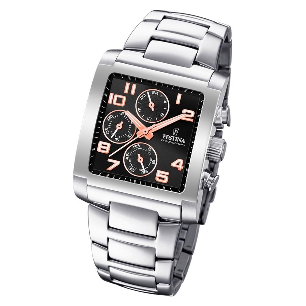 Silber Armbanduhr F204237 Festina Quarz Chronograph Edelstahl Herren Uf204237 bfg6yY7Iv