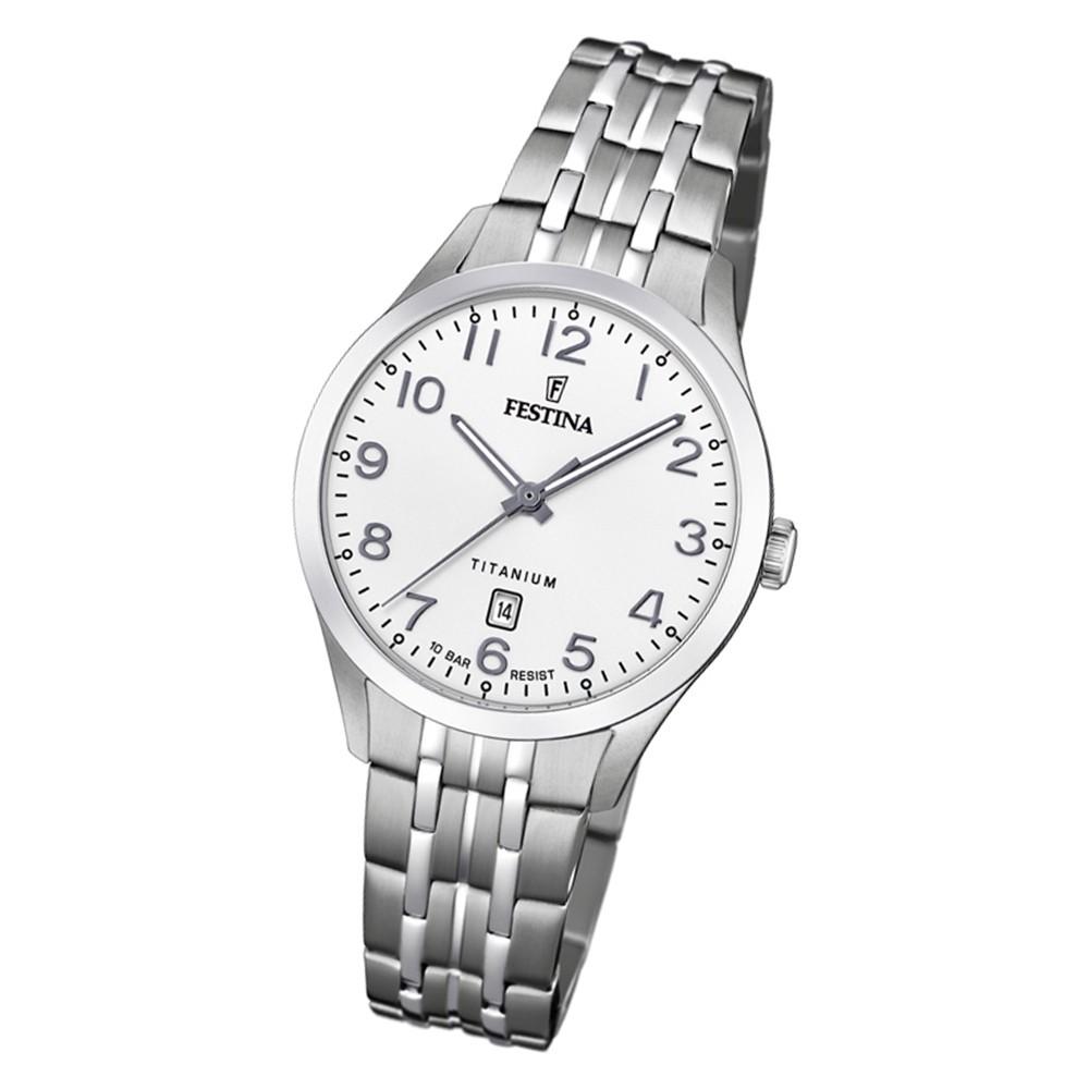 Festina Damen Armbanduhr Klassik F20468/1 Quarz Titan silber UF20468/1