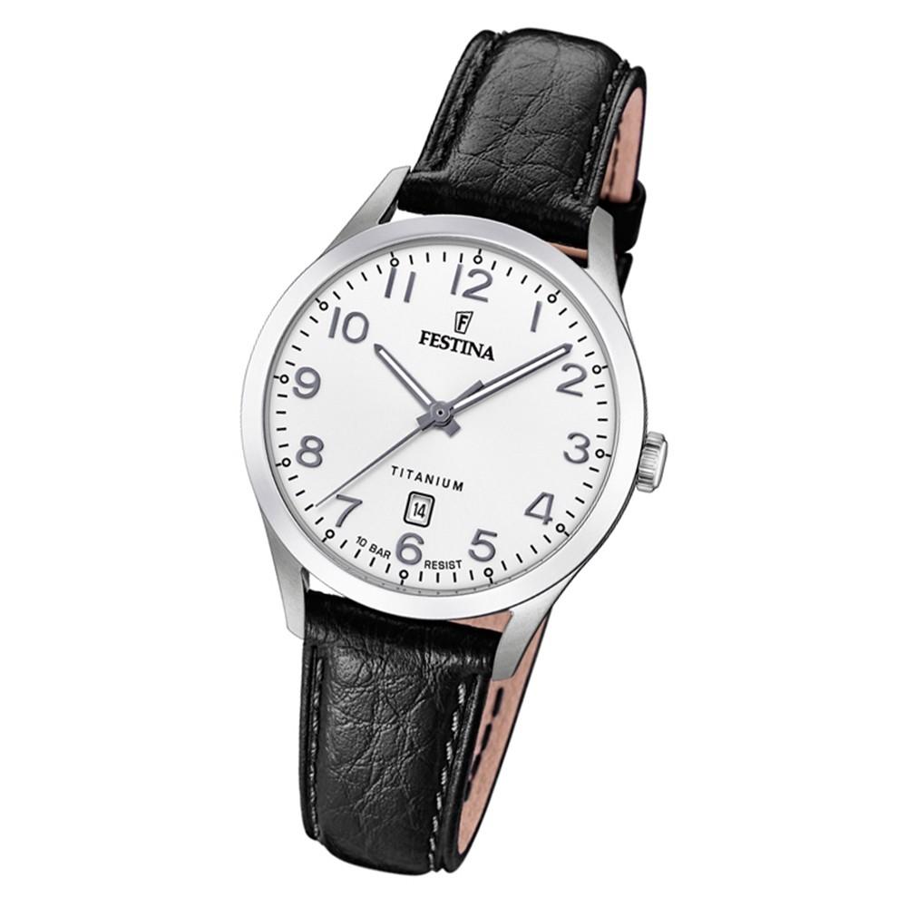 Festina Damen Armbanduhr Klassik F20469/1 Quarz Leder schwarz UF20469/1