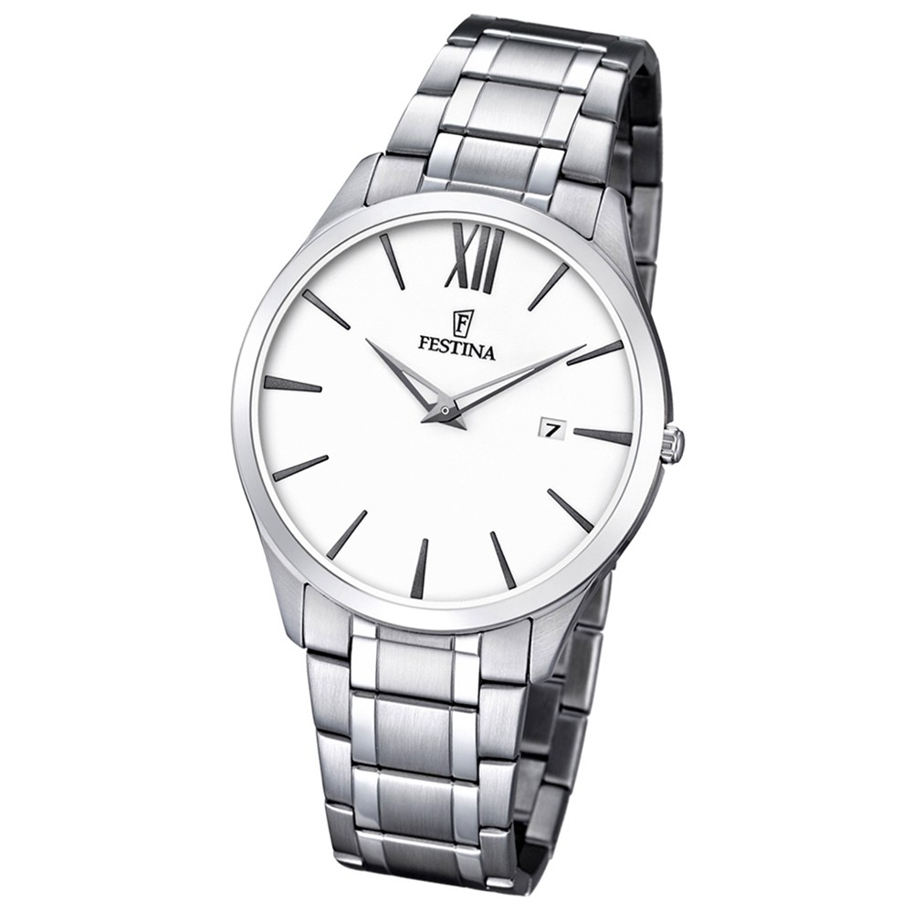 FESTINA Herren-Armbanduhr Stahlband klassisch Analog Quarz Edelstahl UF6832/1