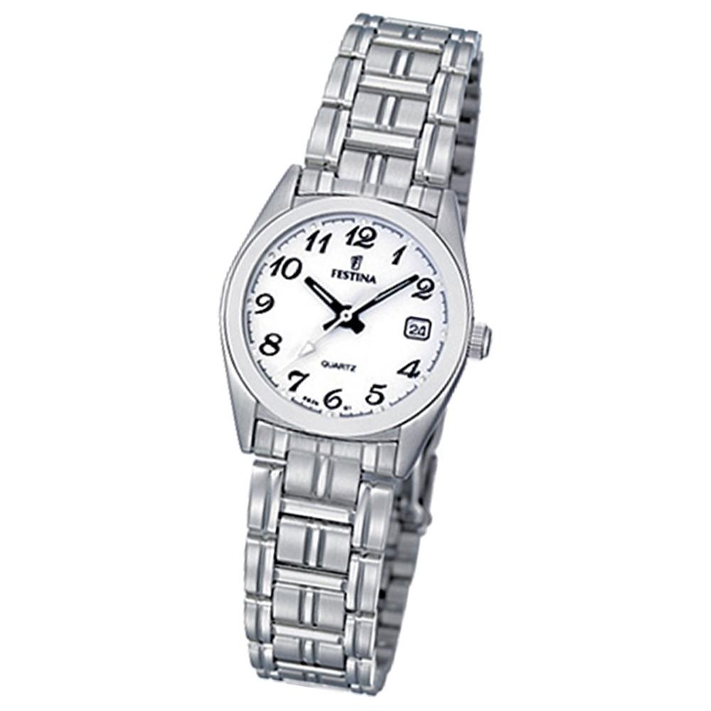 FESTINA Damen-Armbanduhr analog Klassik Quarz Edelstahl UF8826/1