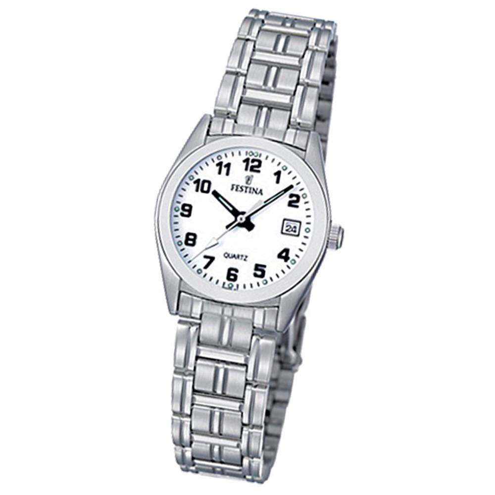 FESTINA Damen-Armbanduhr analog Klassik Quarz Edelstahl UF8826/4