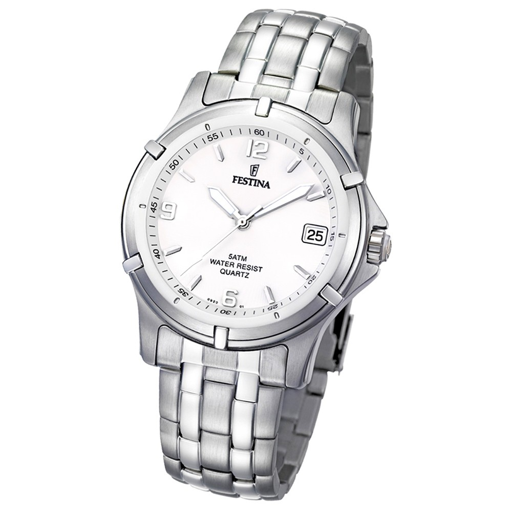 FESTINA Herren-Armbanduhr analog Klassik Quarz Edelstahl UF8920/1