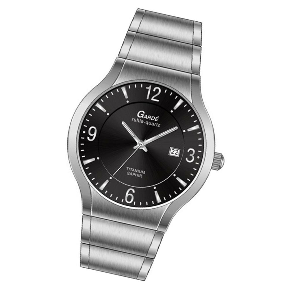 GARDE Damen Quarzuhr silber 13563 Titan matt/poliert-Armband UGA13563