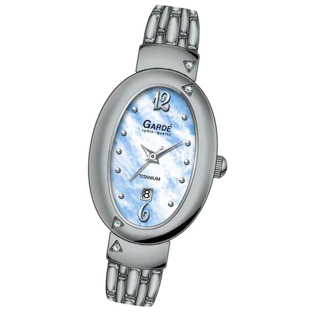 GARDE Damen-Uhr Quarzuhr Elegance 20205 Titan-Armbanduhr UGA20205