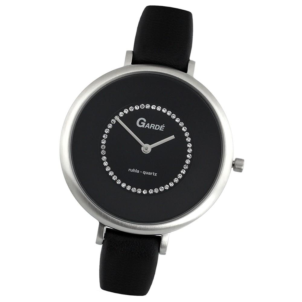 GARDE Damen-Uhr Quarzuhr Elegance 20231-2 Leder-Armbanduhr UGA202312