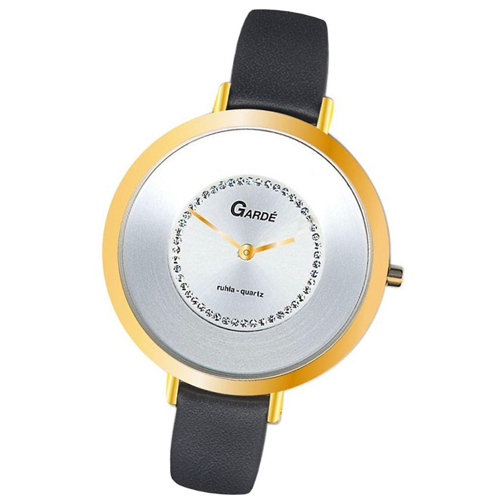 GARDE Damen-Uhr Quarzuhr Elegance 20231-3 Leder-Armbanduhr UGA202313