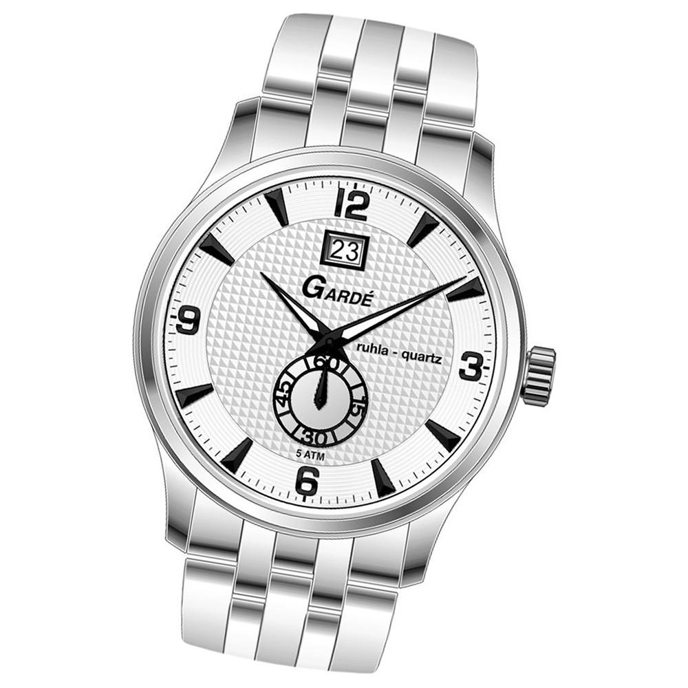 GARDE Herren-Uhr Quarzuhr Elegance 22471 Edelstahl-Armbanduhr UGA22471