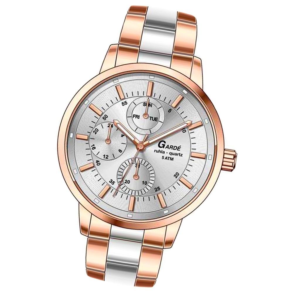 GARDE Damen-Uhr Quarzuhr Elegance 22842 Edelstahl-Armbanduhr UGA22842