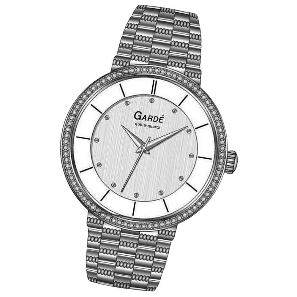 GARDE Damen-Uhr Quarzuhr Elegance 73142 Edelstahl-Armbanduhr UGA73142