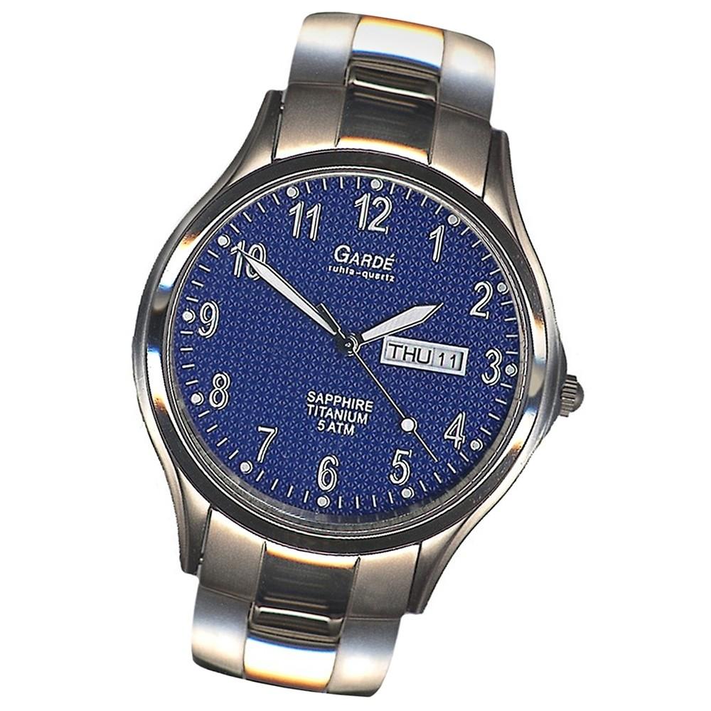 GARDE Herren-Uhr Quarzuhr Elegance 90404 Titan-Armbanduhr UGA90404