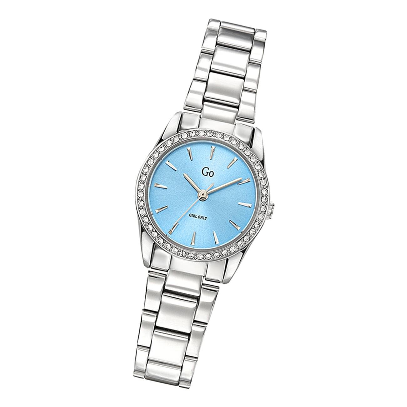 Girl Only Damen Armbanduhr GO 695311 Analog Quarz Uhr Edelstahl silber UGO695311