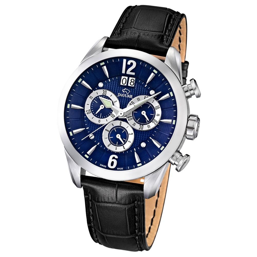 JAGUAR Herren-Armbanduhr ACM Saphirglas Quarz Leder schwarz UJ661/2