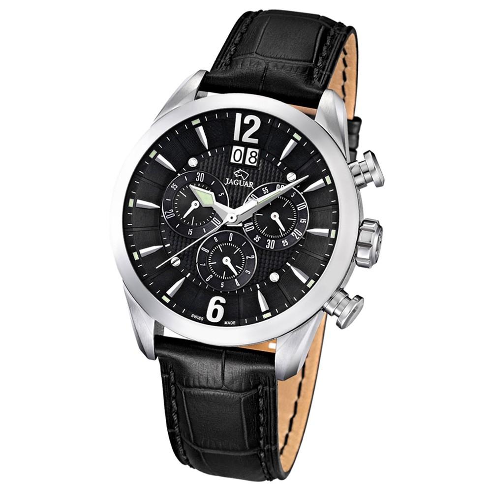 JAGUAR Herren-Armbanduhr ACM Saphirglas Quarz Leder schwarz UJ661/4