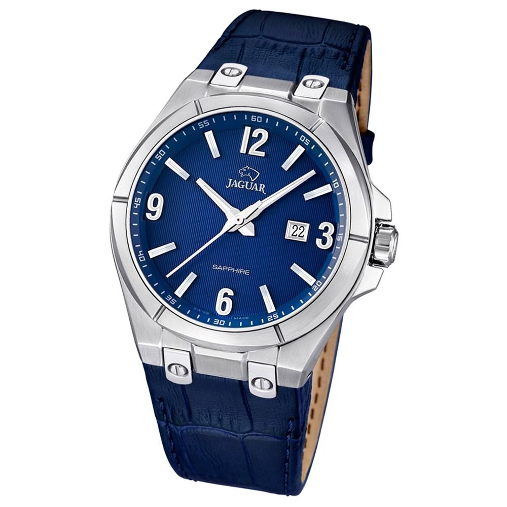 JAGUAR Herren-Armbanduhr Daily Classic Saphirglas Quarz Leder dunkelblau UJ666/2