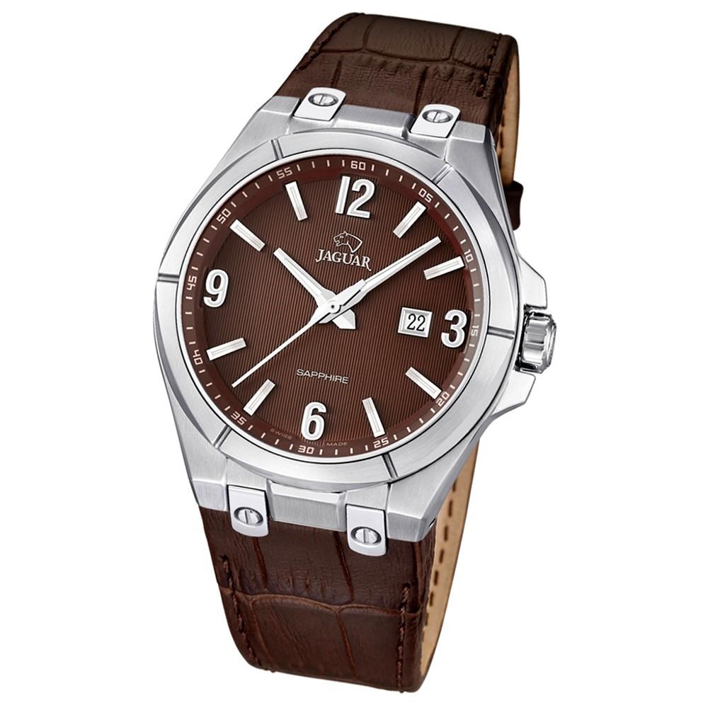 JAGUAR Herren-Armbanduhr Daily Classic Saphirglas Quarz Leder braun UJ666/3