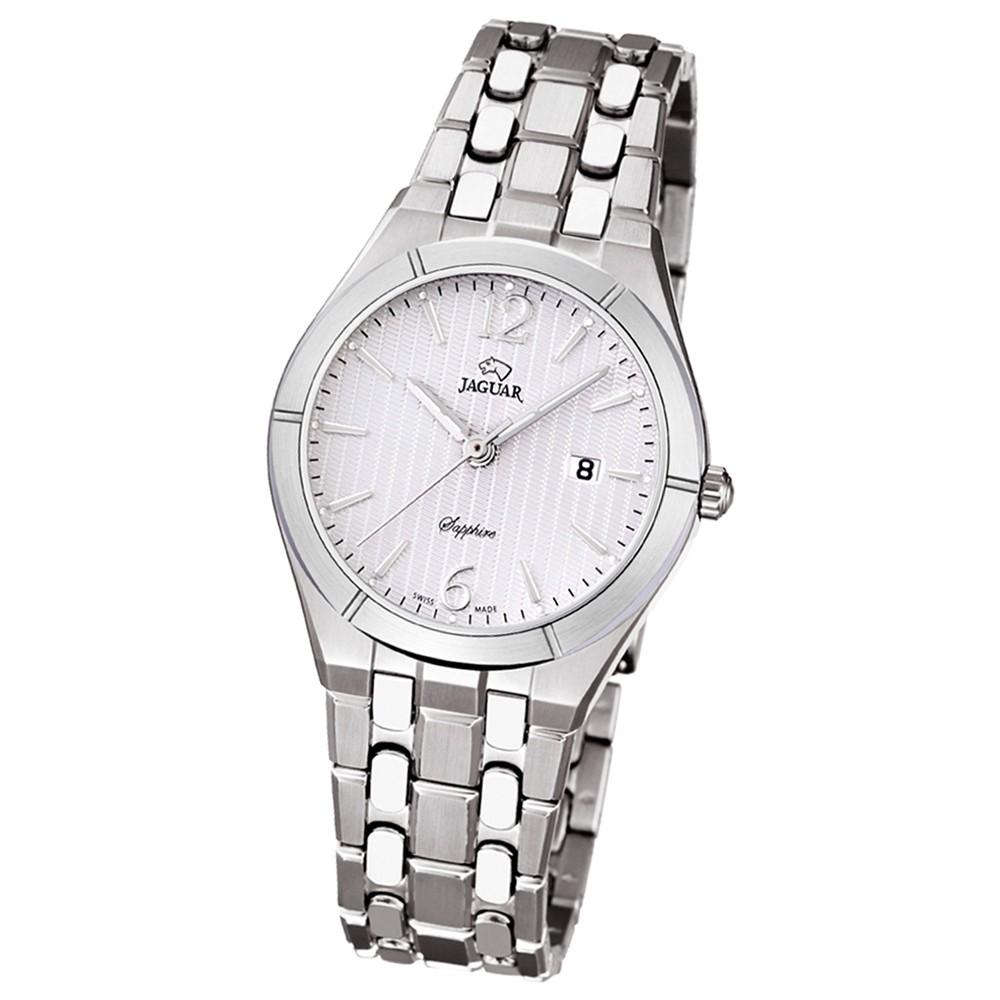 JAGUAR Damen-Armbanduhr Daily Classic Saphirglas Quarz Edelstahl silber UJ671/1