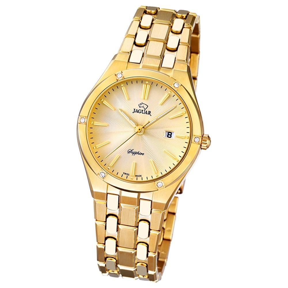 JAGUAR Damen-Armbanduhr Daily Classic Saphirglas Quarz Edelstahl gold UJ672/2