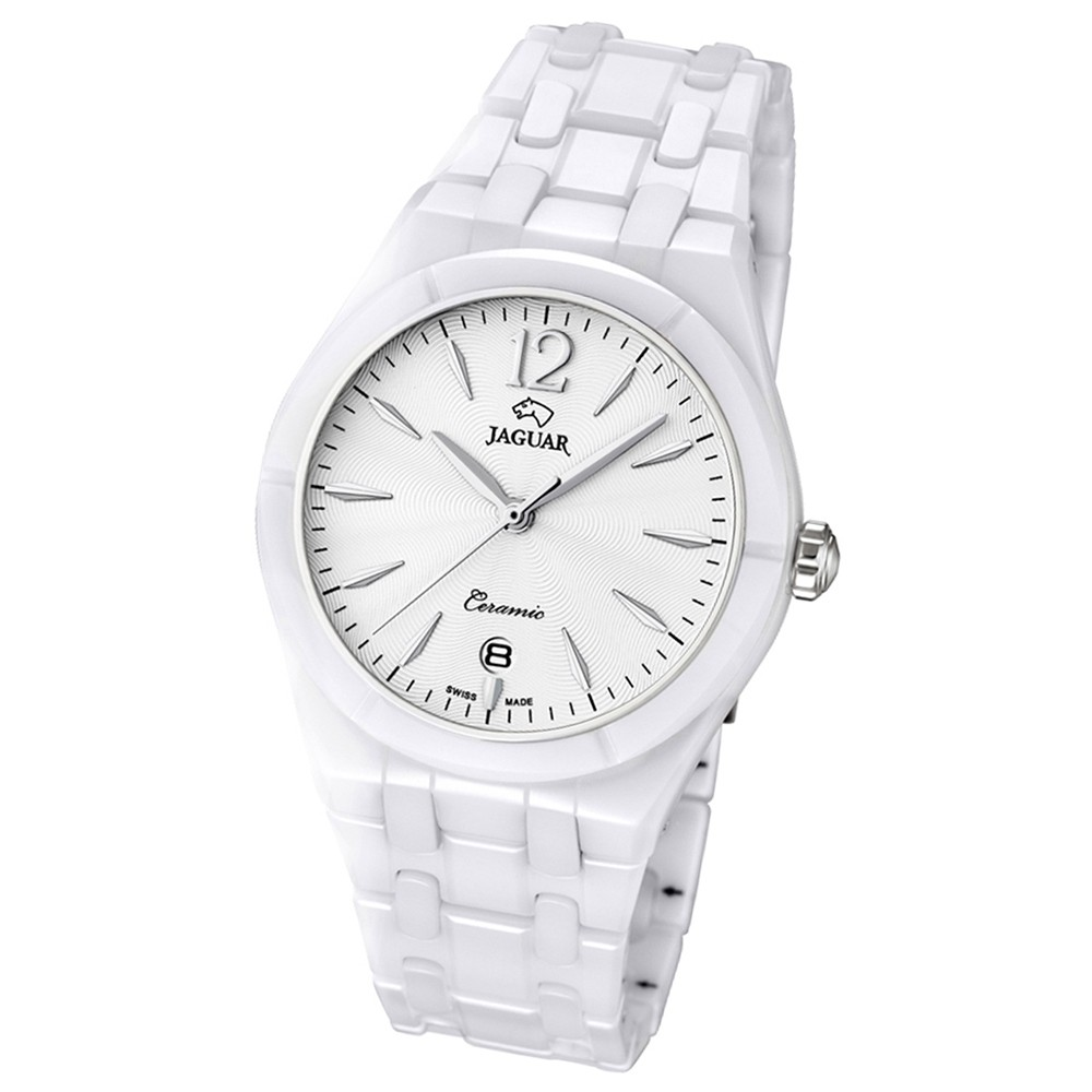 JAGUAR Damen-Armbanduhr Daily Classic Saphirglas Quarz Keramik weiß UJ675/1