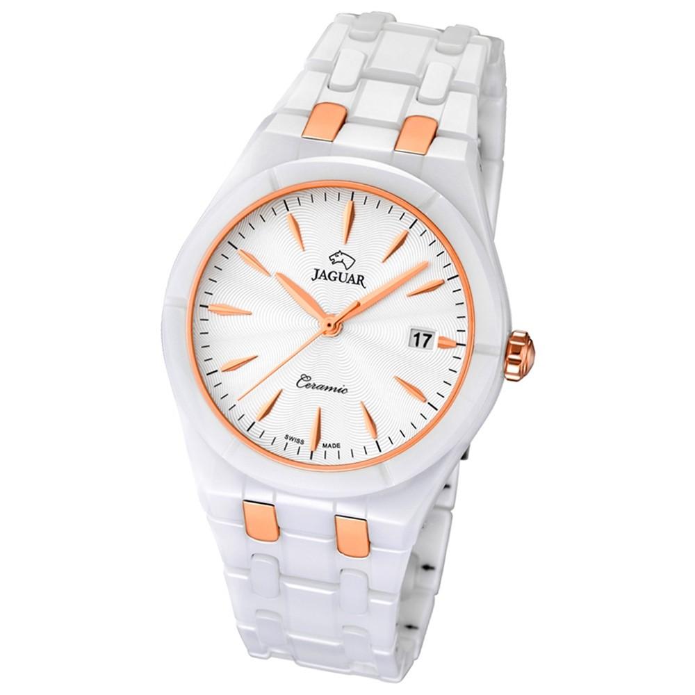 JAGUAR Damen-Armbanduhr Daily Classic Saphirglas Quarz Keramik weiß UJ676/3