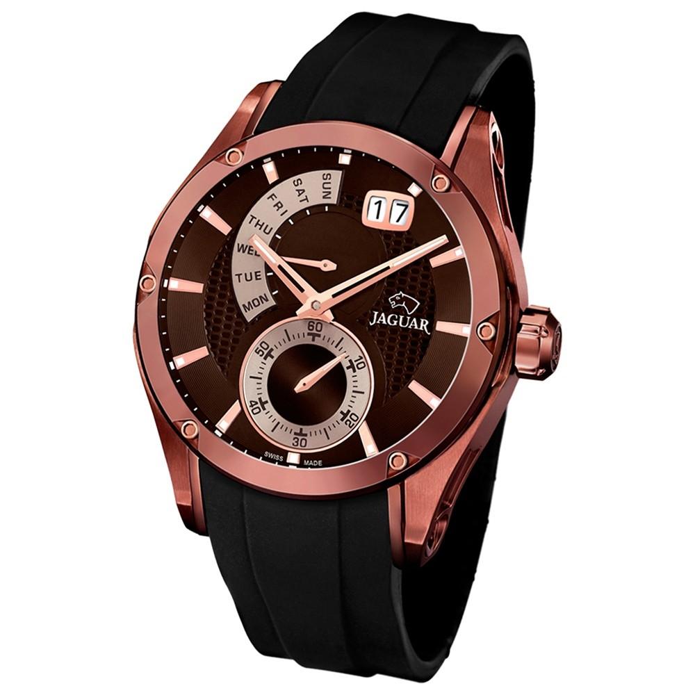 JAGUAR Herren-Armbanduhr Special Edition Saphirglas Quarz PU schwarz UJ680/1