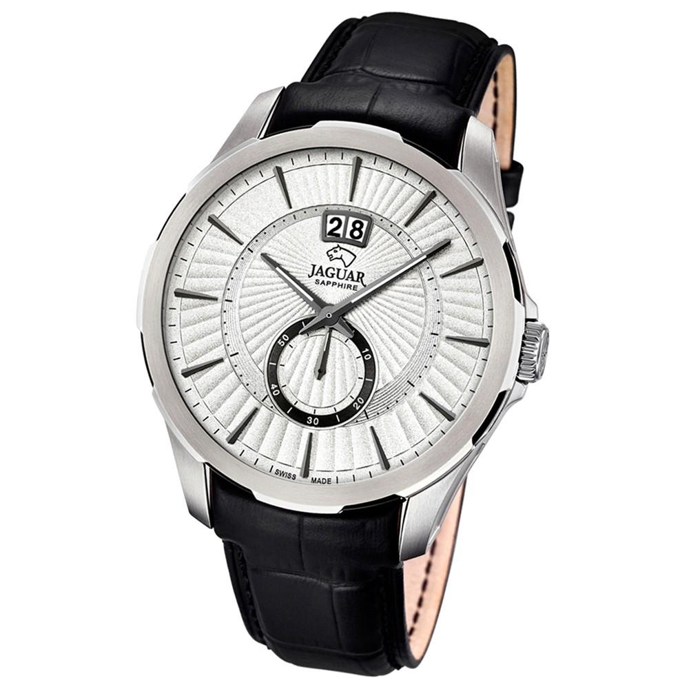 JAGUAR Herren-Armbanduhr ACM Saphirglas Quarz Leder schwarz UJ682/1