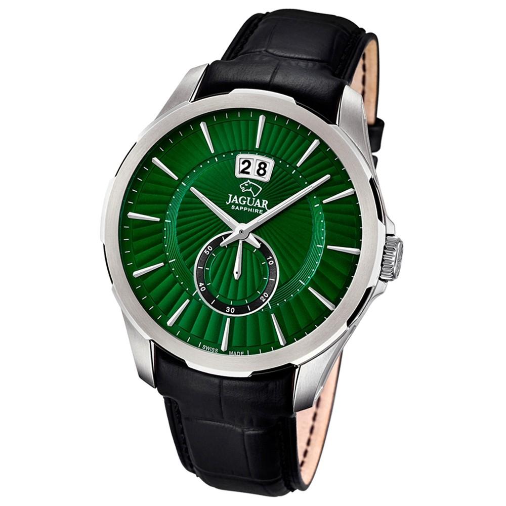 JAGUAR Herren-Armbanduhr ACM Saphirglas Quarz Leder schwarz UJ682/2