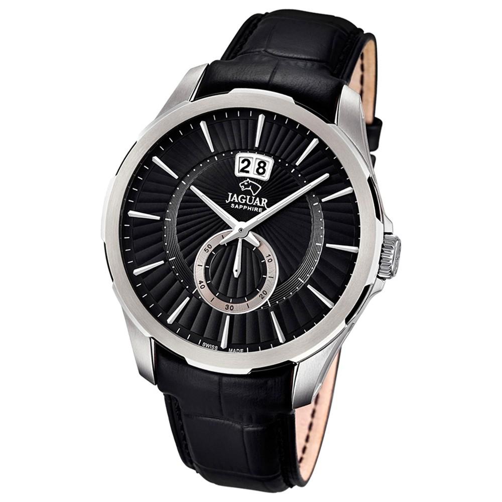 JAGUAR Herren-Armbanduhr ACM Saphirglas Quarz Leder schwarz UJ682/3