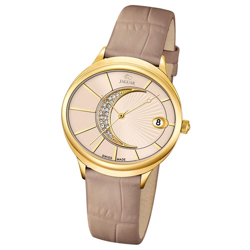 JAGUAR Damen-Armbanduhr Clair de Lune Saphirglas Quarz Leder beige UJ803/2