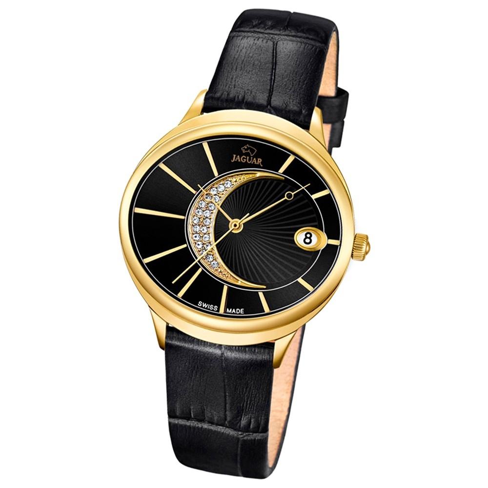 JAGUAR Damen-Armbanduhr Clair de Lune Saphirglas Quarz Leder schwarz UJ803/3