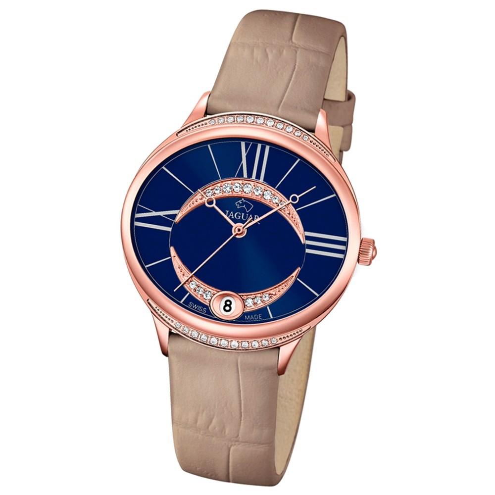 JAGUAR Damen-Armbanduhr Clair de Lune Saphirglas Quarz Leder beige UJ804/2
