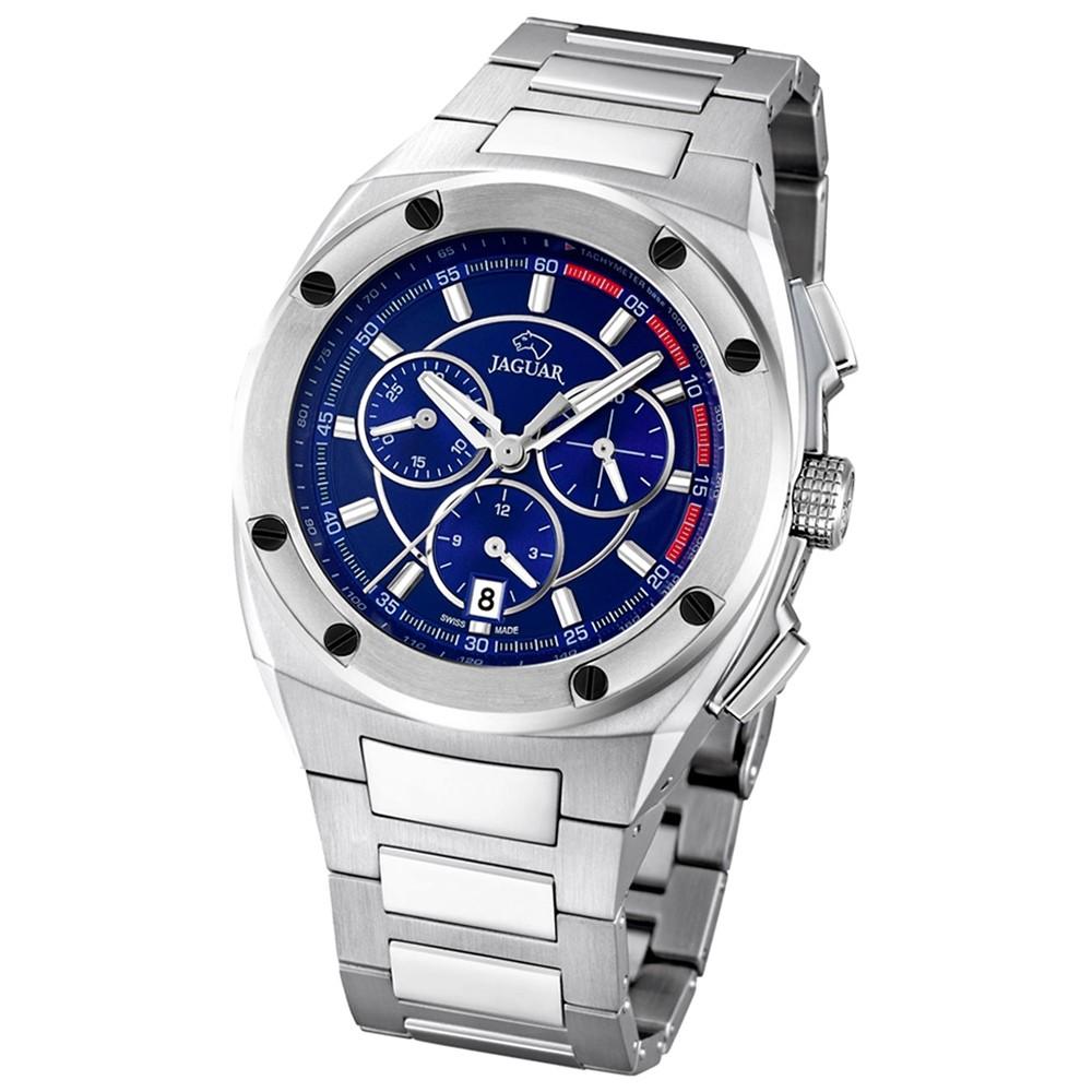 Jaguar Herren-Armbanduhr Executive Saphirglas Quarz Edelstahl silber UJ805/3