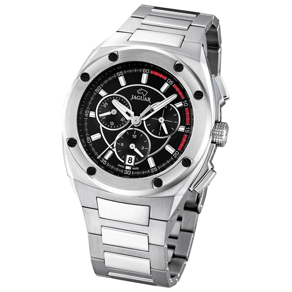 Jaguar Herren-Armbanduhr Executive Saphirglas Quarz Edelstahl silber UJ805/4