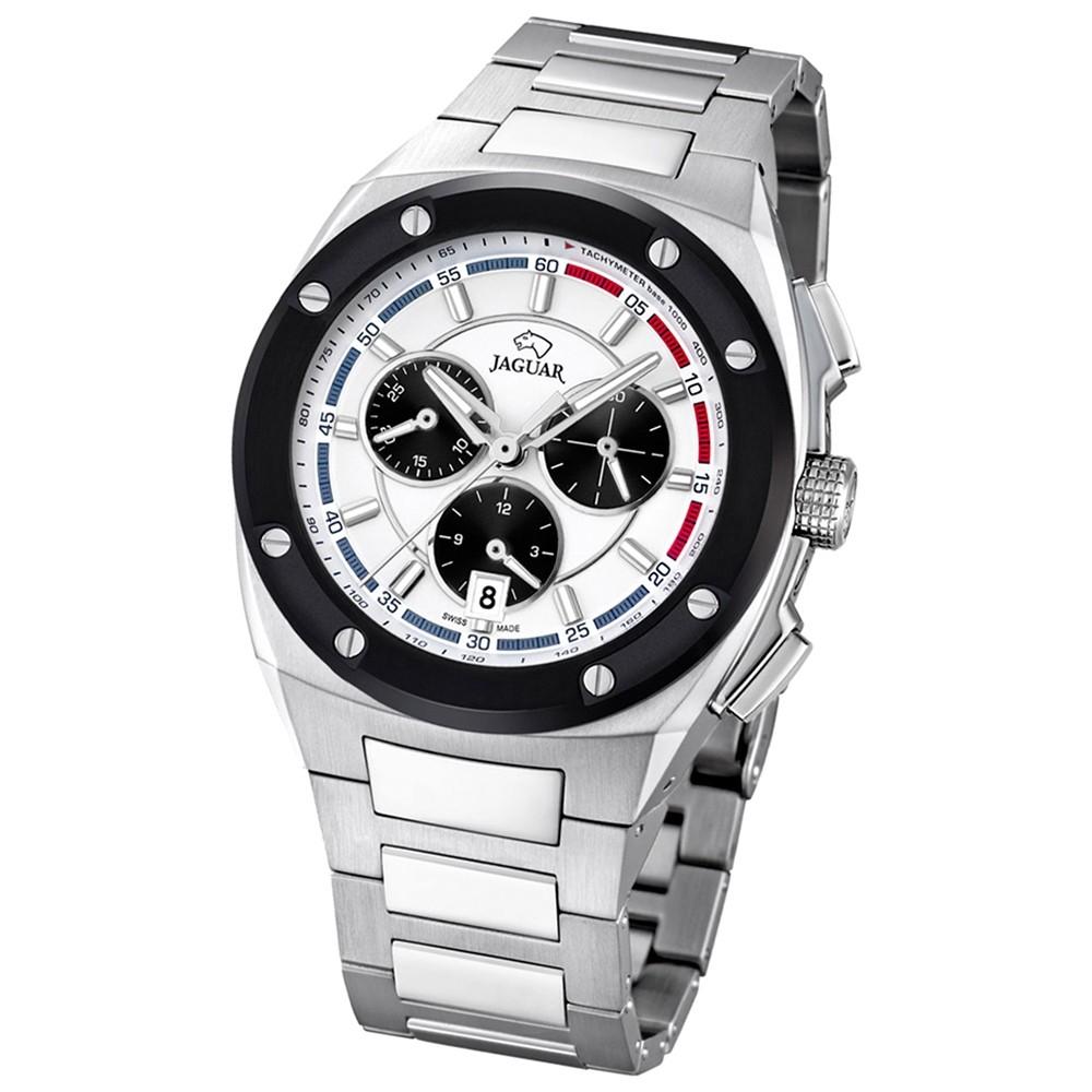 Jaguar Herren-Armbanduhr Executive Saphirglas Quarz Edelstahl silber UJ807/1