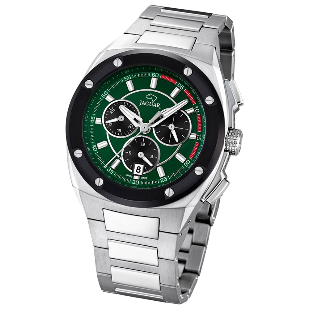 Jaguar Herren-Armbanduhr Executive Saphirglas Quarz Edelstahl silber UJ807/2