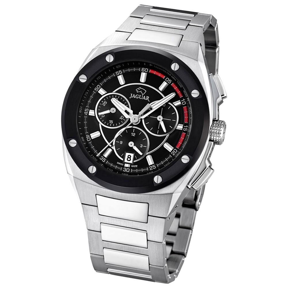 JAGUAR Herren-Armbanduhr Executive Saphirglas Quarz Edelstahl silber UJ807/4