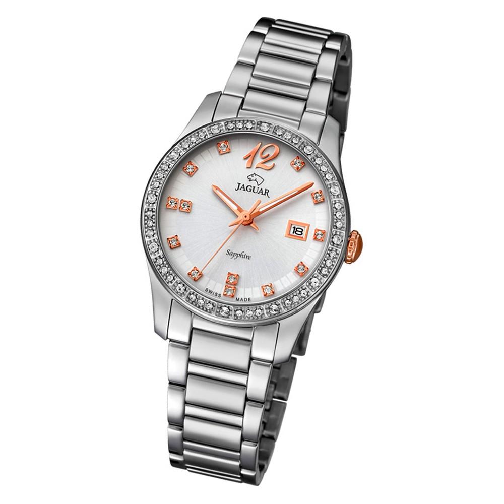 Jaguar Damen-Armbanduhr Edelstahl silber J820/1 Saphir Cosmopolitan UJ820/1